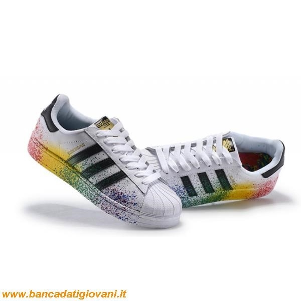 Adidas Superstar Black Rainbow