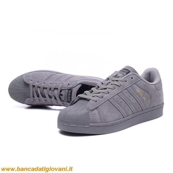 scarpe adidas superstar grigie