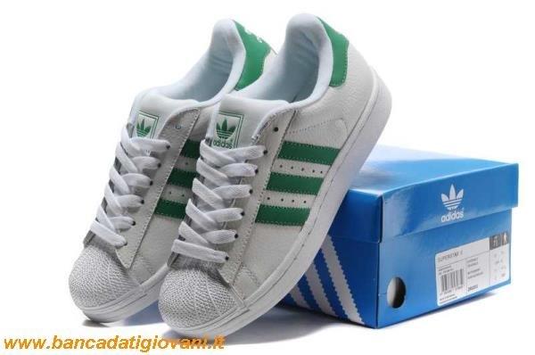 adidas superstar verdi e bianche