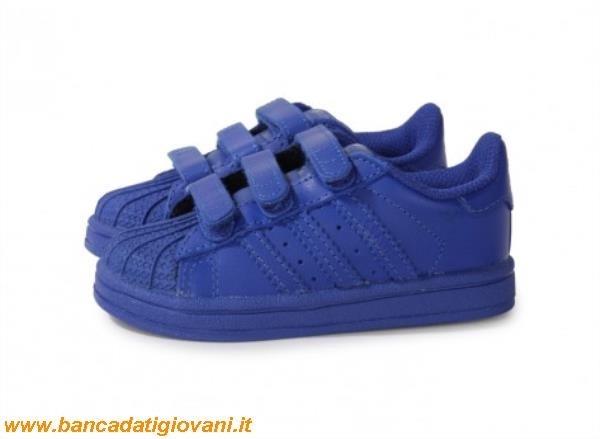 adidas superstar blu bambino