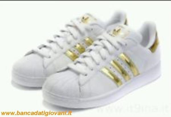 adidas bianche e dorate
