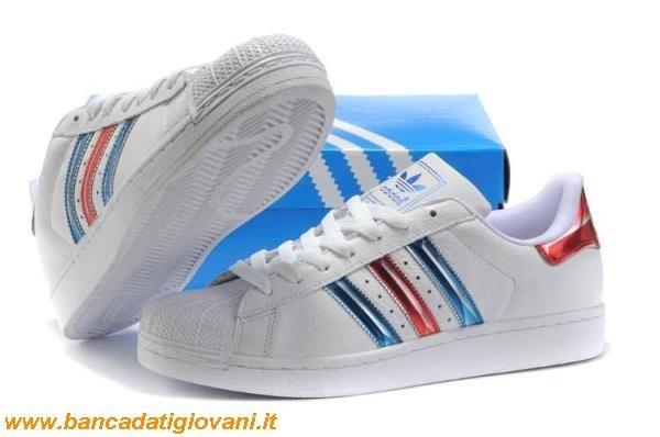 online retailer 34bba 30d7e sweden adidas superstar rosso blu d1a41 05d50