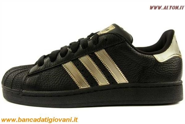 new product 0d769 149b0 Adidas Superstar Nere E Bianche E Oro