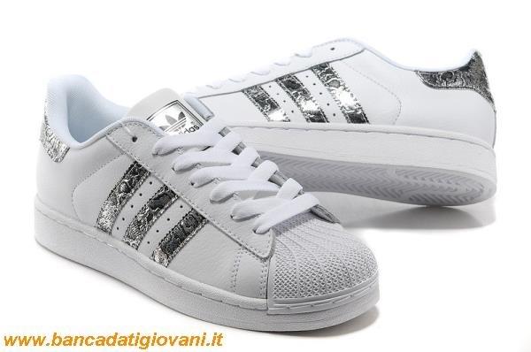 adidas superstar bianche e argento