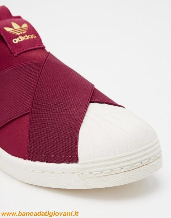 Adidas Superstar Slip On Bordeaux