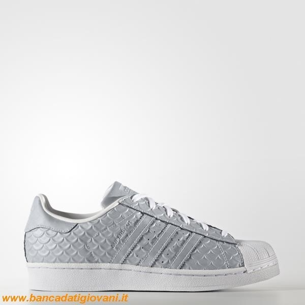 Adidas Superstar White Metallic Silver