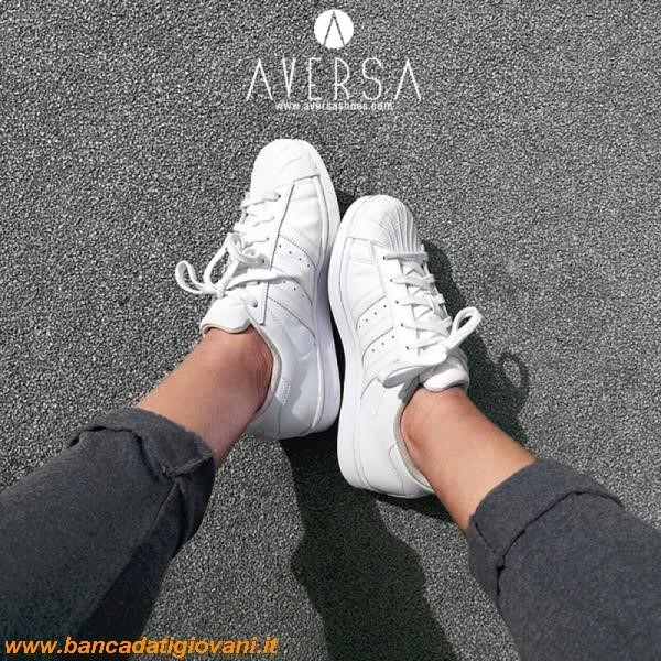 adidas superstar bianche indossate