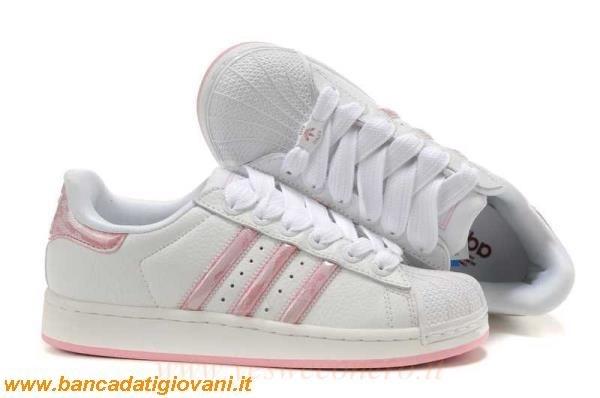 2adidas alte bianche e rosa