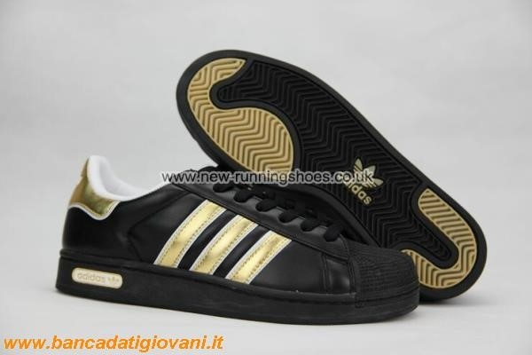 adidas superstars nere e oro