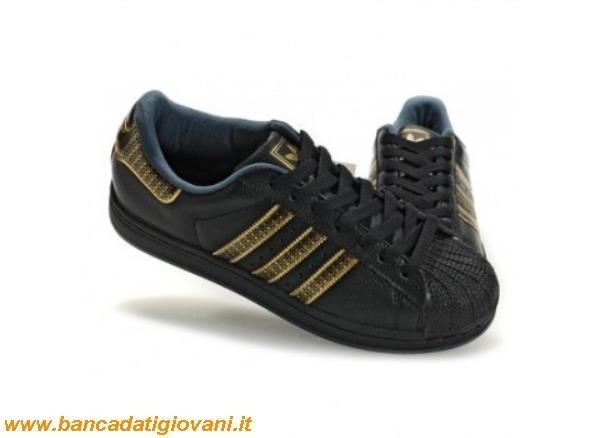 adidas superstar nere e oro