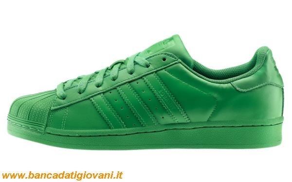 adidas superstar verdi fluo