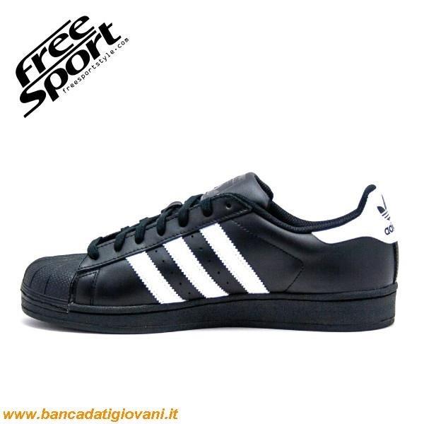adidas superstar nere con punta bianca