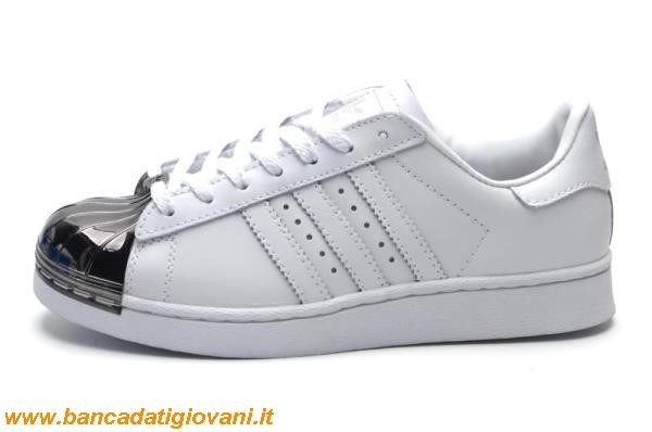 adidas superstar nere in pelle punta argento