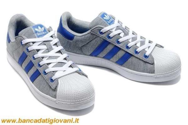 adidas superstar grigie e blu