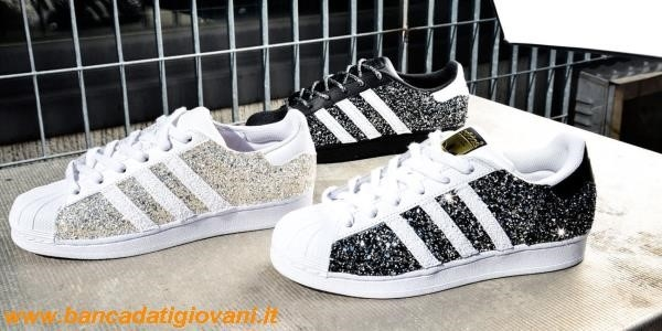 Adidas Superstar Black Glitter